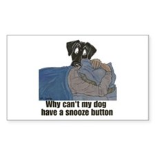 NBk Snooze Button Rectangle Decal