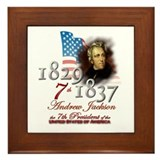 7th President - Framed Tile