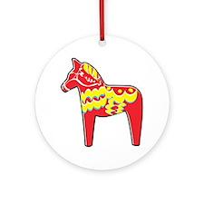 Pretty Dala Horse Ornament (Round)