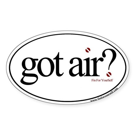 Got Air? Oval Sticker