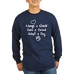 Save a Friend Long Sleeve Dark T-Shirt