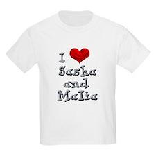 I Love Sasha and Malia T-Shirt