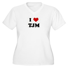 I Love TJM Women's Plus Size V-Neck T-Shirt
