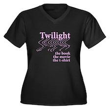 EDWARD CULLEN Women's Plus Size V-Neck Dark T-Shir