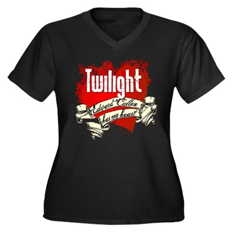 Edward Cullen Tattoo Women's Plus Size V-Neck Dark
