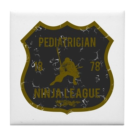 Pediatrician Ninja League Tile Coaster