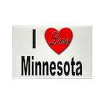 I Love Minnesota Rectangle Magnet (10 pack)