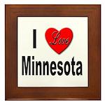 I Love Minnesota Framed Tile