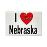 I Love Nebraska Rectangle Magnet (10 pack)