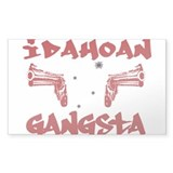 Idahoan Gangsta Rectangle Decal