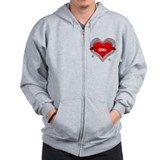My Heart Iowa Vector Style Zip Hoodie