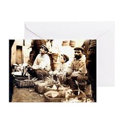 Boston Fish Sellers Greeting Cards (Pk of 20)