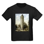 Flatiron Building New York Kids Dark T-Shirt