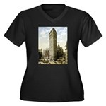 Flatiron Building New York Women's Plus Size V-Nec