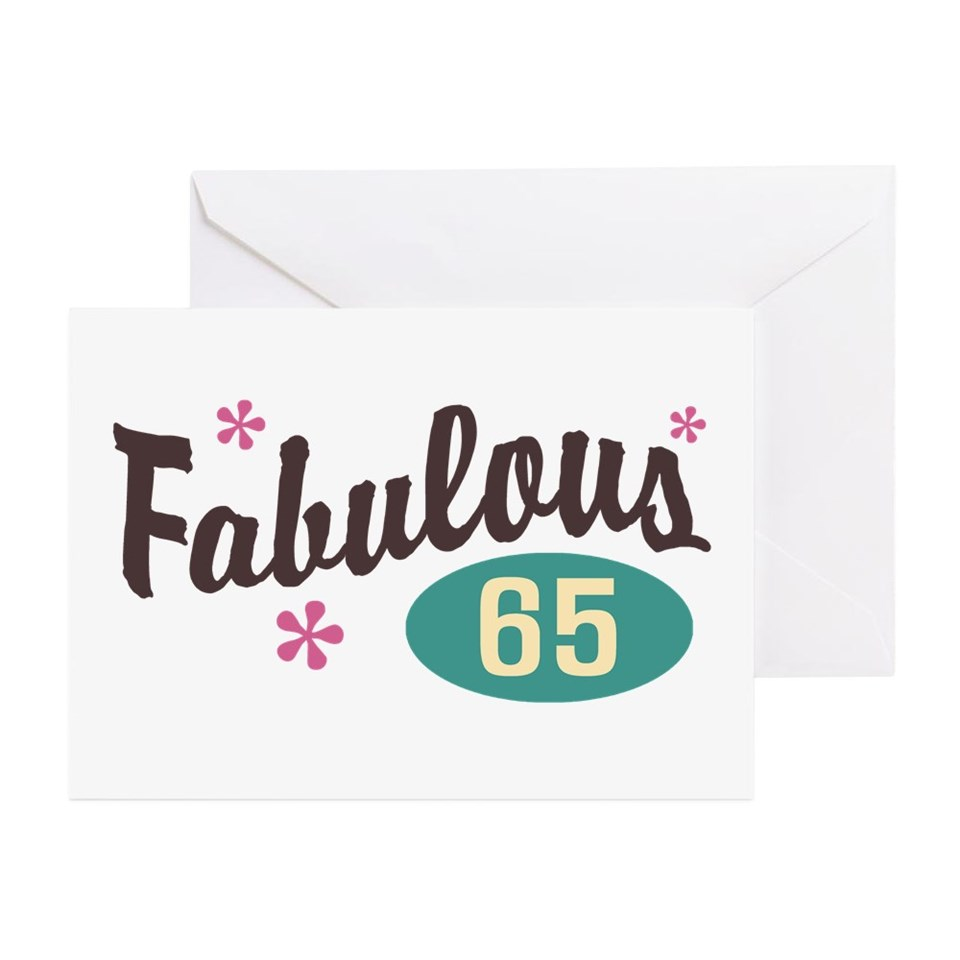 65 Year Old Birthday Greeting Cards Buy