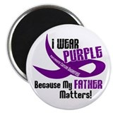 I Wear Purple For My Father 33 PC Magnet