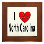 I Love North Carolina Framed Tile