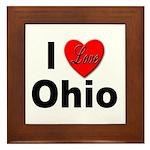 I Love Ohio Framed Tile