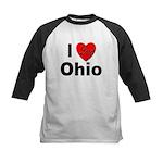 I Love Ohio Kids Baseball Jersey