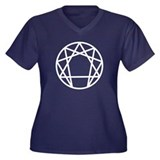 Enneagram Symbol Women's Plus Size V-Neck Dark T-S