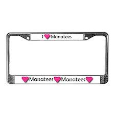 I LUV MANATEES License Plate Frame