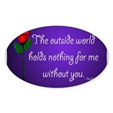 Outside World Twilight Oval Decal