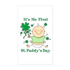Me 1st St. Paddy's Day Rectangle Decal