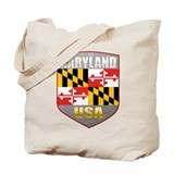 Maryland USA Crest Tote Bag