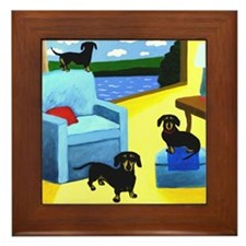 Weiners at Home Framed Tile
