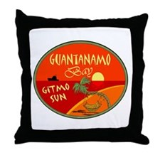 Guantanamo Bay Throw Pillow