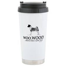 oddFrogg Akita Love Ceramic Travel Mug