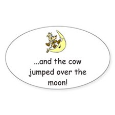 Cow Over The Moon Oval Decal
