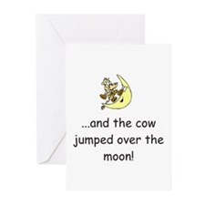Cow Over The Moon Greeting Cards (Pk of 20)