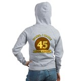 45th Birthday Gag Gift Zip Hoodie