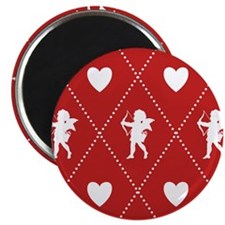 Valentine Diamond Pattern Cupid Magnet