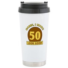 50th Birthday Gag Gift Ceramic Travel Mug