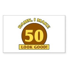 50th Birthday Gag Gift Rectangle Decal