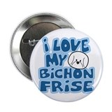 "I Love my Bichon Frise Button (2.25"")"