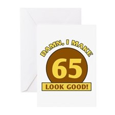 65th Birthday Gag Gift Greeting Cards (Pk of 10)
