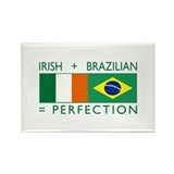 Irish Brazilian flag Rectangle Magnet (10 pack)