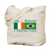 Irish Brazilian flag Tote Bag