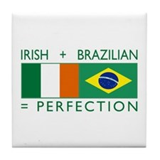 Irish Brazilian flag Tile Coaster