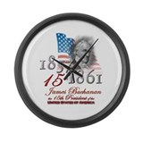 15th President - Large Wall Clock