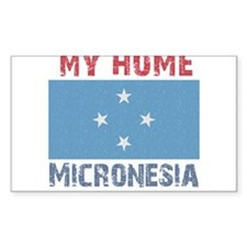 My Home Micronesia Vintage St Rectangle Decal