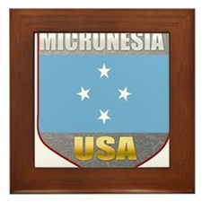 Micronesia USA Crest Framed Tile