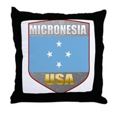 Micronesia USA Crest Throw Pillow