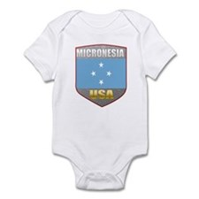 Micronesia USA Crest Infant Bodysuit