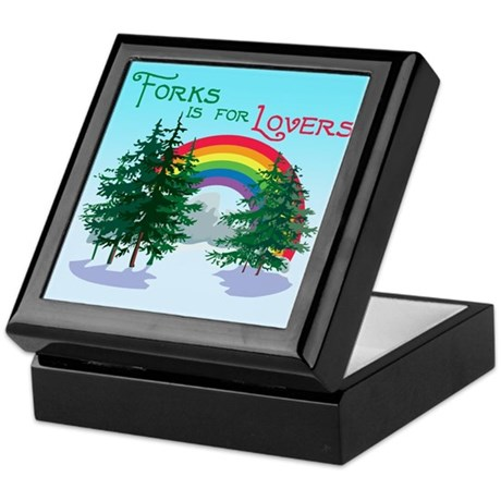 Forks Is For Lovers Keepsake Box