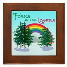 Forks Is For Lovers Framed Tile