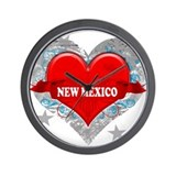 My Heart New Mexico Vector St Wall Clock
